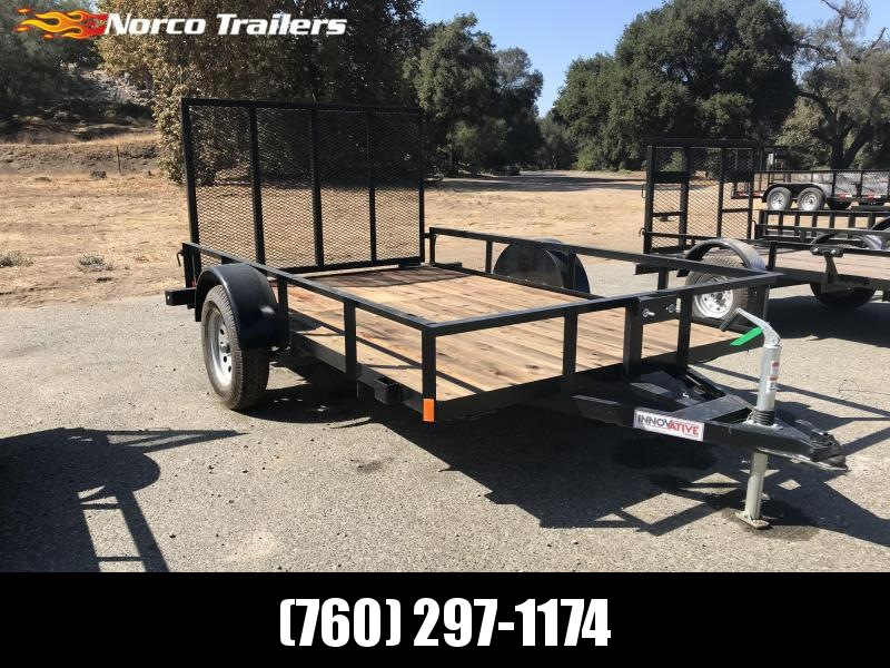 "2018 Innovative Trailer Mfg. Economy Wood 77"" x 10' Single Axle Utility Trailer"