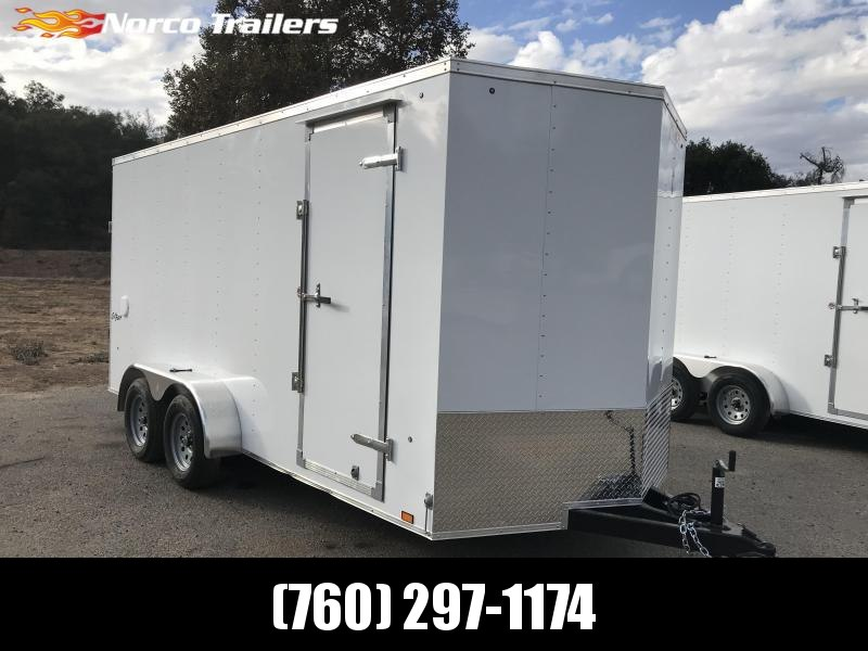 2019 Pace American Vnose Outback 7' x 16' Enclosed Cargo Trailer