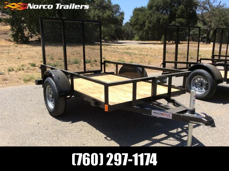 2018 Innovative Trailer Mfg. Economy Wood 5' x 8' Single Axle Utility Trailer