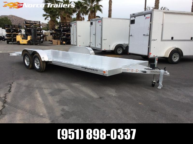 2018 Featherlite 8.5 x 16' 3182 Flatbed Car / Racing Trailer