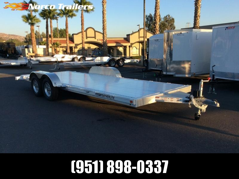 2018 Featherlite 8.5' x 20' 3182 Flatbed Car / Racing Trailer