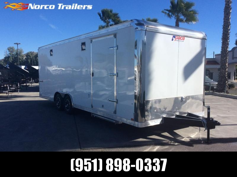 2019 Pace American Shadow 8.5 X 24 Tandem Enclosed Car / Racing Trailer