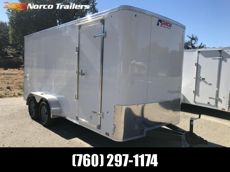 2019 Pace American Outback 7' x 16' Cargo / Enclosed Trailer