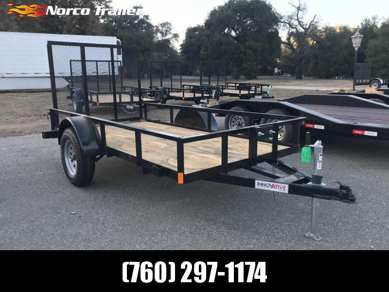 "2019 Innovative Trailer Mfg. Economy Wood Single Axle 60"" x 10' Utility Trailer"