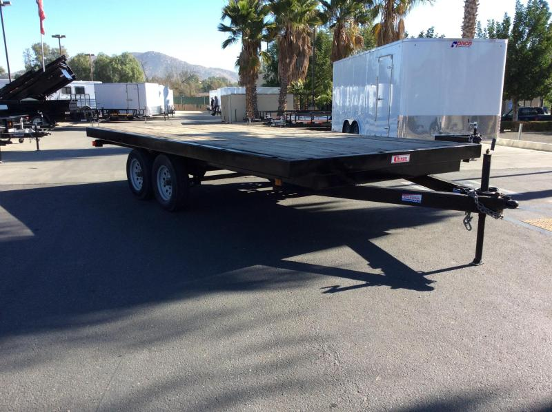 "2007 Carson 102"" x 16' 7k Deck-over Flatbed Car Trailer"