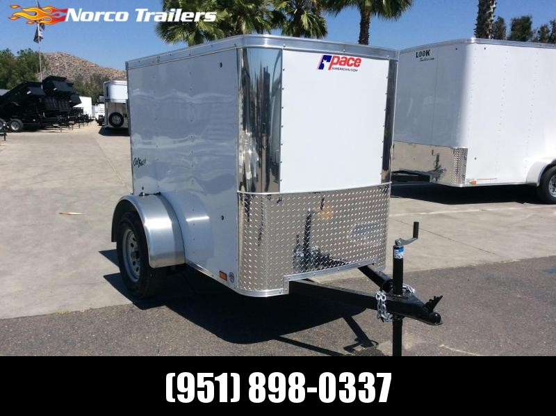 2019 Pace American Outback 4 x 6 Single Axle Enclosed Cargo Trailer
