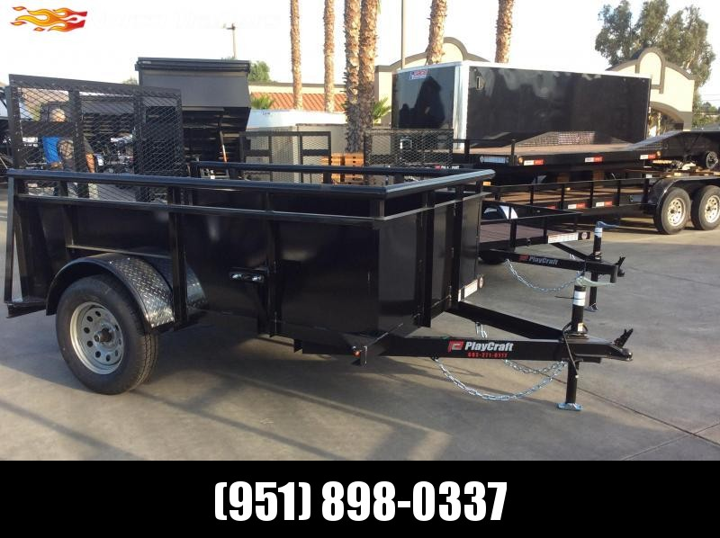 2019 Playcraft 5' x 8' Landscape Single Axle Utility Trailer