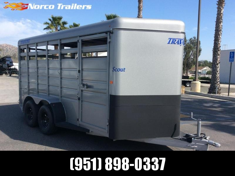 2018 Travalong 6.8' x 16' Tandem Axle Livestock Trailer