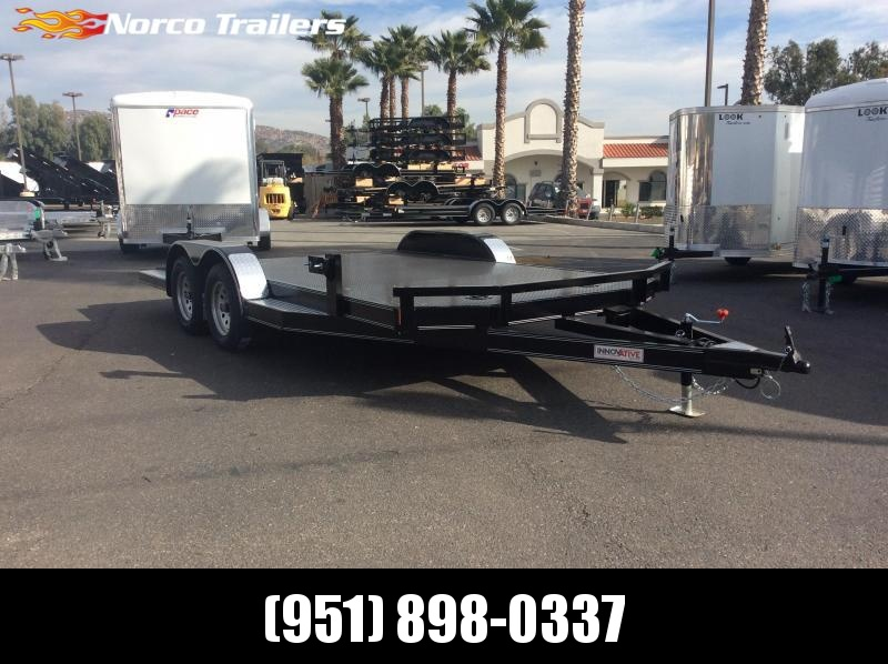 "2019 Innovative Trailer Mfg. Steel Floor Car Hauler 83"" x 16' Tandem Axle Flatbed Trailer"