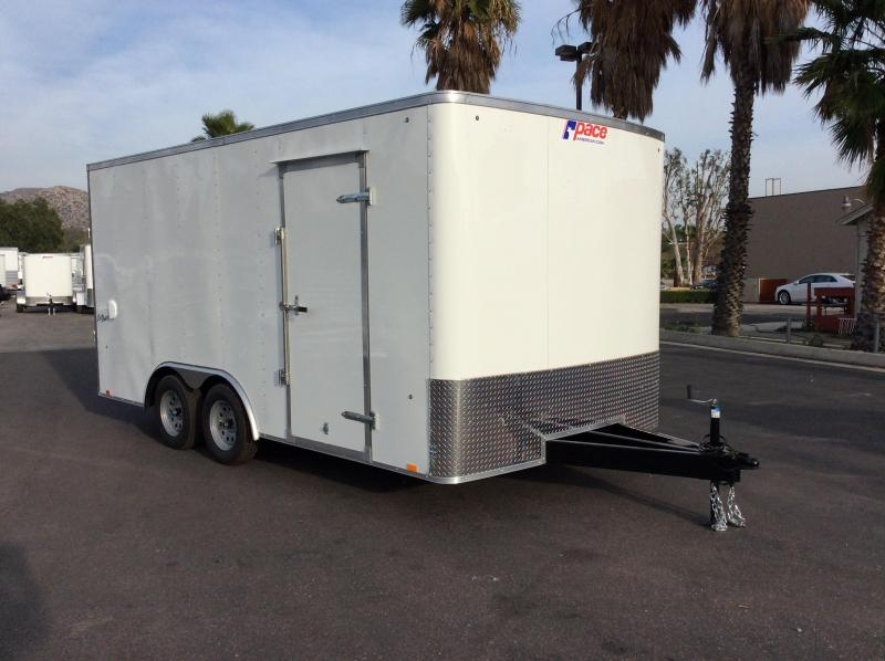 2018 Pace American Outback 8.5 x 16 7K Car / Racing Trailer