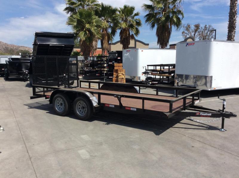 "2018 Sun Country Playcraft 82"" x 16' Tandem Axle Utility Trailer"
