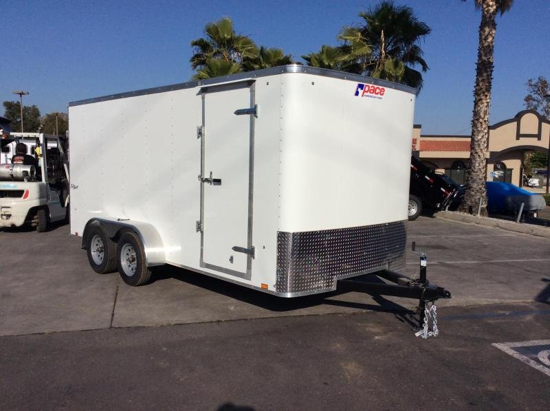 2019 Pace American Outback 7 x 16 Tandem Axle Enclosed Cargo Trailer
