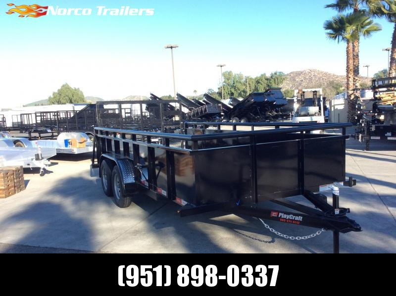"2019 Sun Country 82"" x 16' Landscape Tandem Axle Utility Trailer"