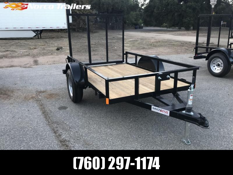 "2018 Innovative Trailer Mfg. Economy Wood Single Axle 60"" x 8' Utility Trailer"