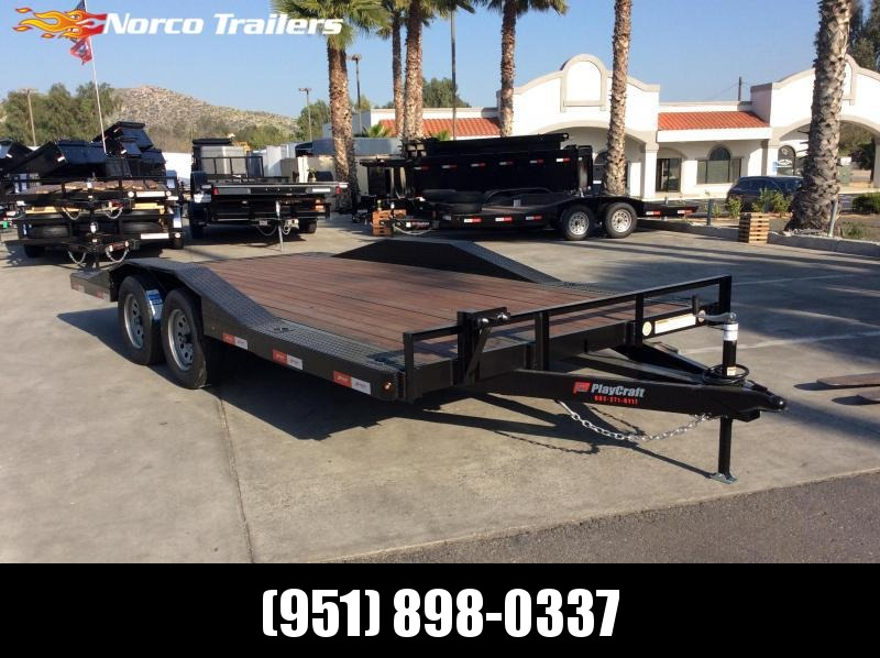 2019 Sun Country 102 X 16 DRIVE OVER FENDER Flatbed Trailer