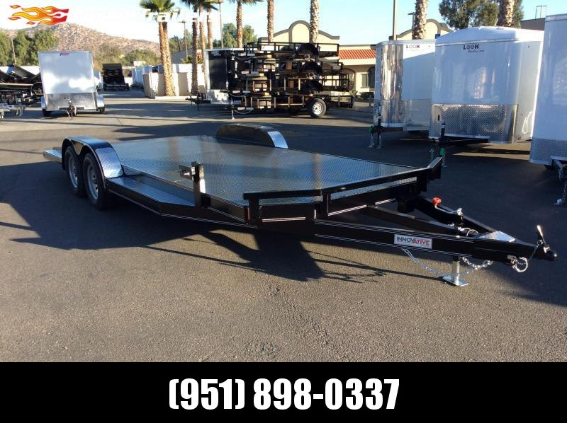 "2019 Innovative Trailer Mfg. Steel Floor Car Hauler 83"" x 20' Tandem Axle Flatbed Trailer"