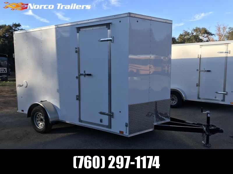 2019 Pace American Vnose Outback 7' x 12' Enclosed Cargo Trailer w/ Brakes