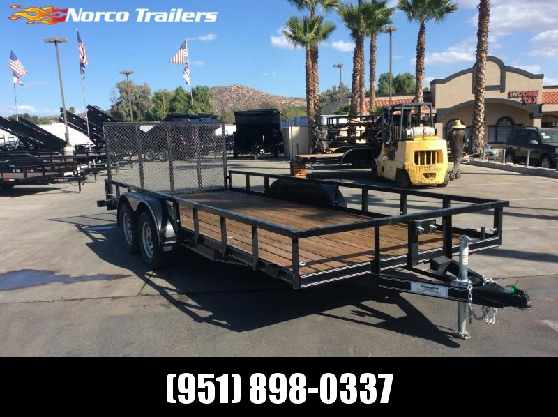 "2017 Innovative Trailer Mfg. Economy Wood Car Hauler 83"" x 18' Tandem Axle Flatbed Trailer"