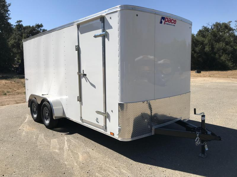2019 Pace American Outback 7' x 16' Enclosed Cargo Trailer