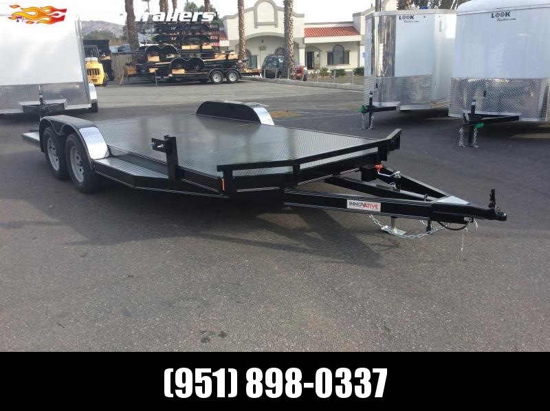 "2019 Innovative Trailer Mfg. Steel Floor Car Hauler 83"" x 18' Tandem Axle Flatbed Trailer"