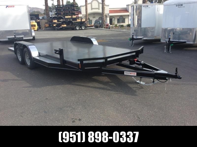 "2019 Innovative Trailer Mfg. Steel Floor Car Hauler 83"" x 18' Tandem Axle Flatbed Trailer"
