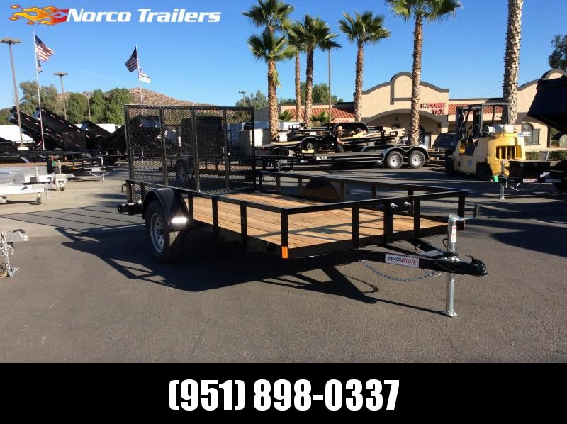 "2019 Innovative Trailer Mfg. Economy Wood Standard Utility 77"" x 12' Utility Trailer"