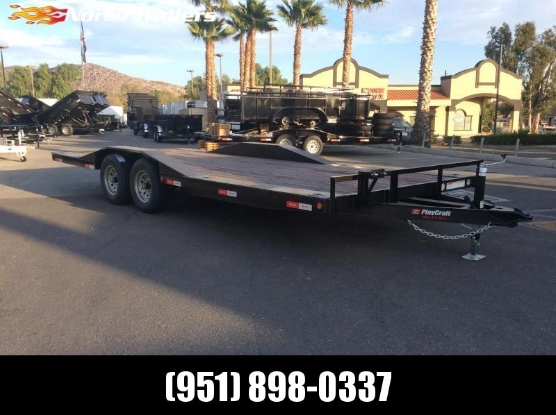 "2019 Playcraft 102"" x 20' Driveover Fender Flatbed Trailer"