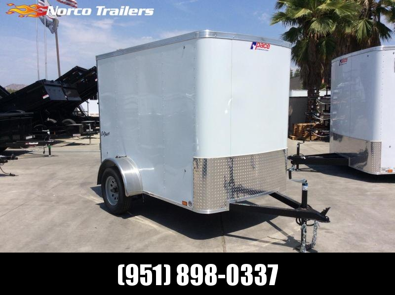 2019 Pace American OB 5' x 8' Single Axle Enclosed Cargo Trailer