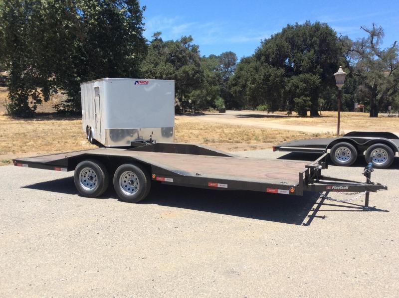 "2018 Playcraft 82"" x 18' Tandem Axle DriveOver Fender Flatbed Trailer"