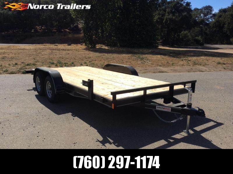 "2018 Innovative Trailer Mfg. Economy Wood Car Hauler 83"" x 16' Flatbed Trailer"