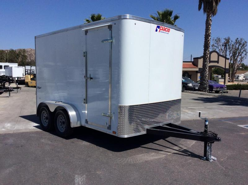 2018 Pace American Outback 7' x 12' Tandem Axle Enclosed Cargo Trailer