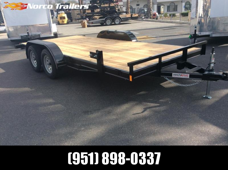 "2019 Innovative Trailer Mfg. Economy Wood Car Hauler 83"" x 16' Tandem Axle Flatbed Trailer"