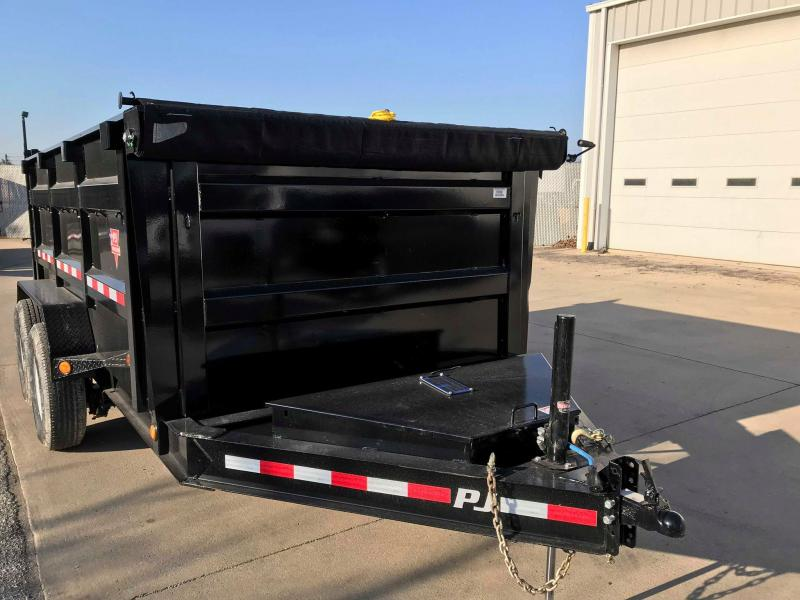"2018 PJ Trailers 12' x 83"" Low Pro High Side Dump Trailer"