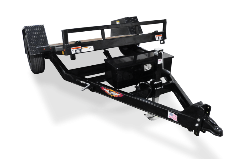"""2019 H and H Trailer 78"""" X 12' Gravity Single Tilt 7.8k Equipment Trailer"""