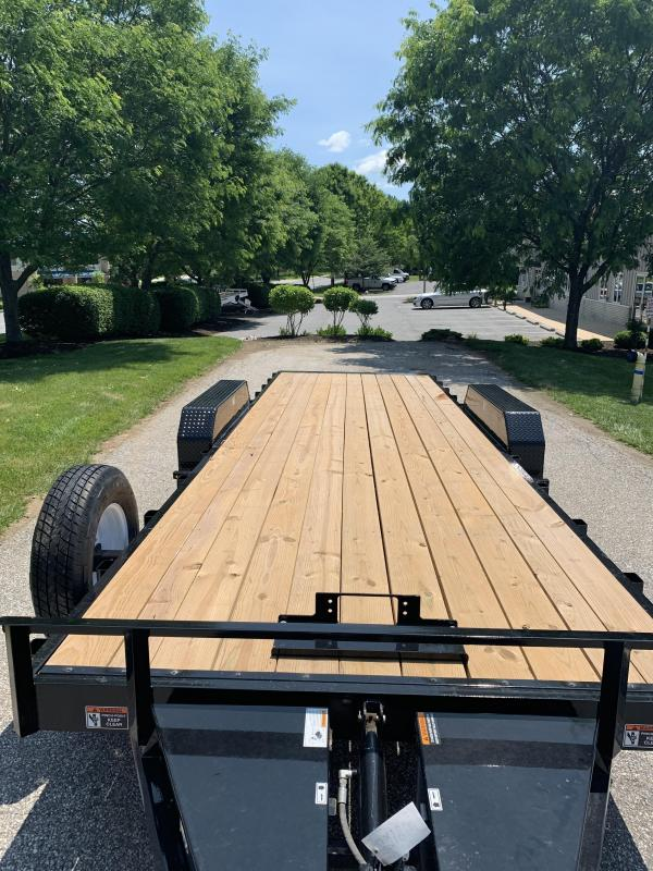 "2019 H and H Trailer 82"" x 24' Electric Speedloader TiltBed Car / Racing Trailer"