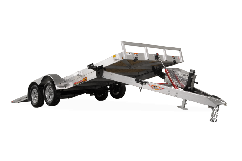"2019 H and H Trailer 82"" X 20' Electric Speedloader Aluminum TiltBed 7 Car / Racing Trailer"