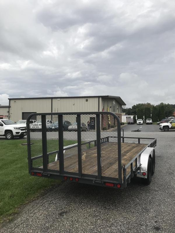 "2019 PJ Trailers 18' x 83"" Tndm Axle Channel Utility Trailer"