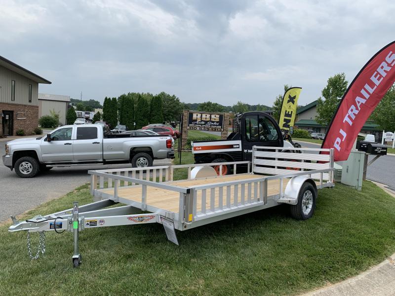 "2019 H and H Trailer 82"" x 14' Railside Aluminum ATV Utility Trailer"