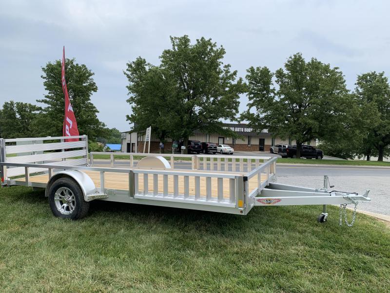 2019 H and H Trailer 82 x 14 Railside Aluminum ATV Utility Trailer