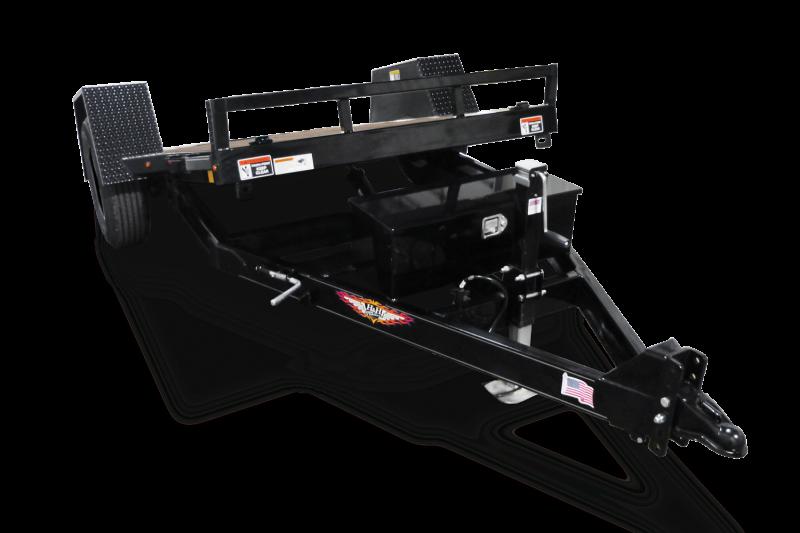2019 H and H Trailer 62 x 10 Gravity Tilt Single Axle 6k Equipment Trailer