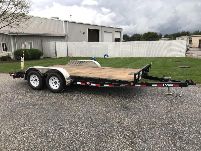 "2019 PJ Trailers 16' x 5"" Channel Carhauler Trailer"