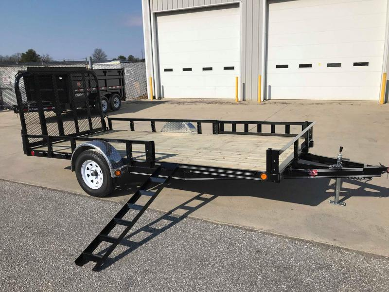 "2018 PJ Trailers 14' x 77"" Single Axle Channel Utili Trailer"