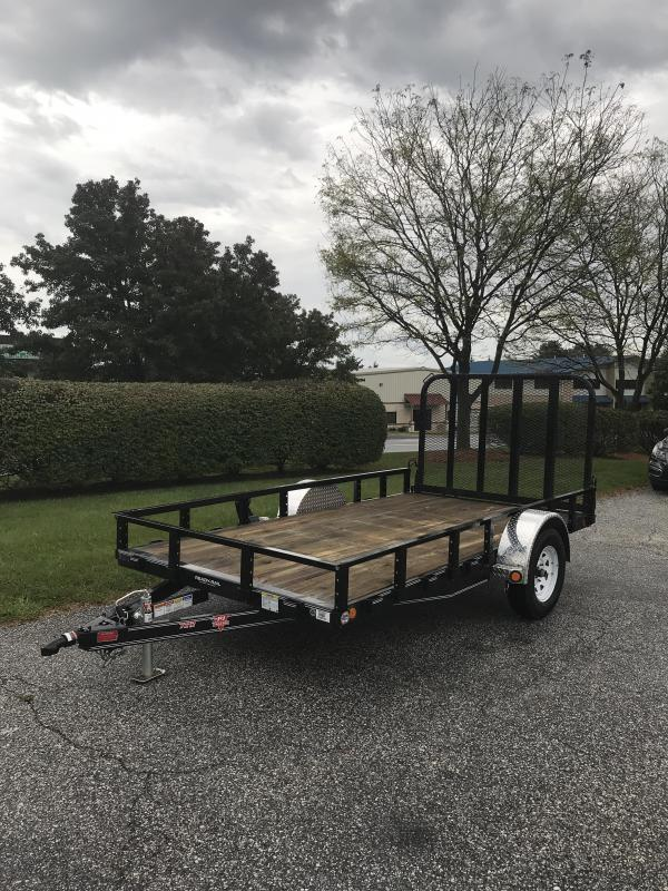 "2019 PJ Trailers 12' x 77"" Sngl Axle Channel Utility Trailer"