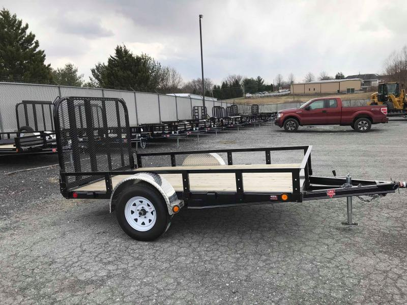 "2018 PJ Trailers 10'x72"" Single Axle Channel Utility Trailer"