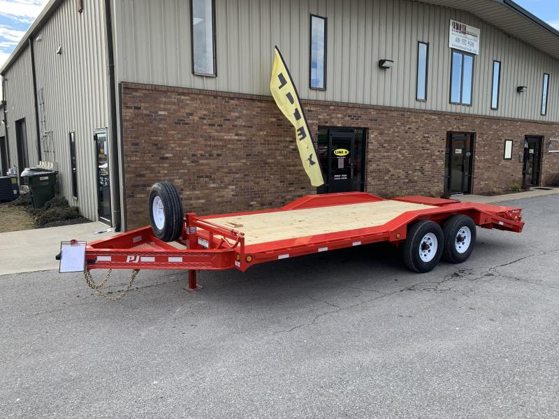 "2019 PJ Trailers 20' x 8"" Pro-Beam Super-Wide Equip Trailer"