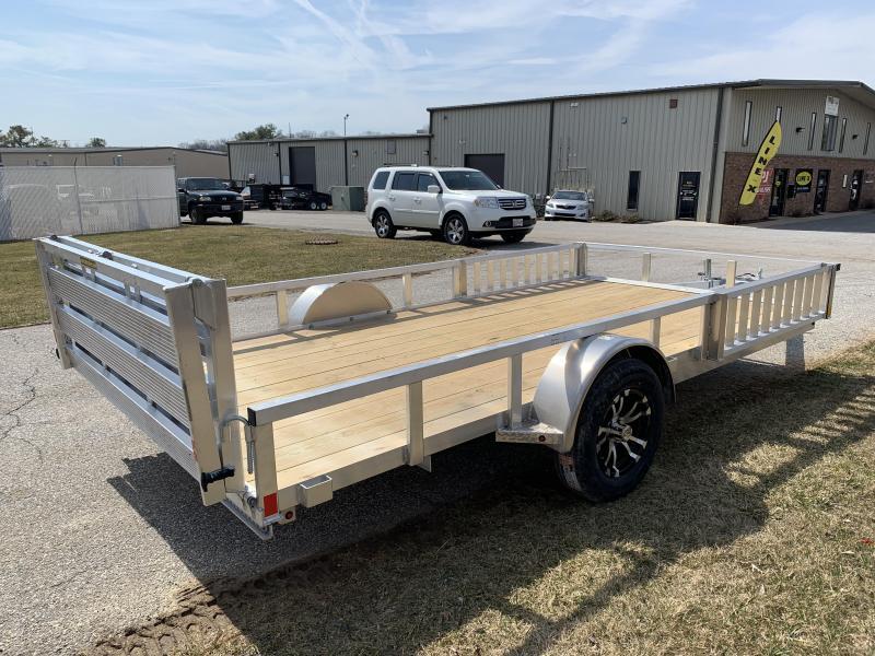 """2019 H and H Trailer 14' x 82"""" Railside Aluminum Utlity/ATV Utility Trailer"""