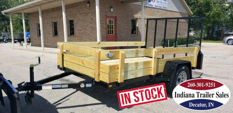 2019 Nation Tank and Trailer Utility Wood Sides Utility Trailer