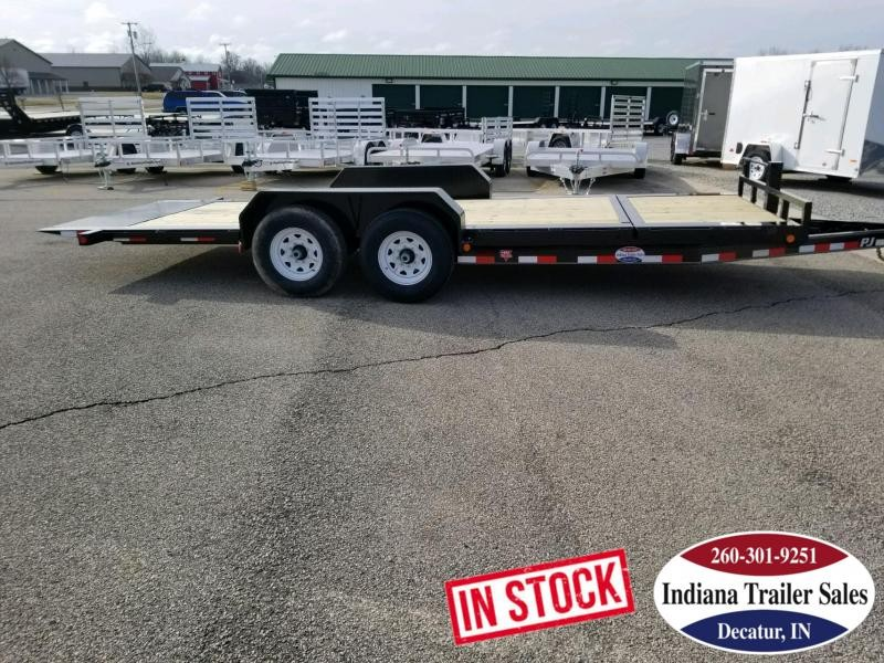 2019 PJ Trailers TJ2072 Equipment Trailer Tilt