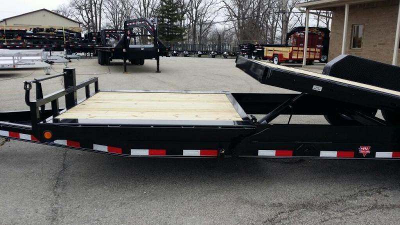 "2019 PJ Trailers TJ202 82""x20' Equipment Trailer Tilt"