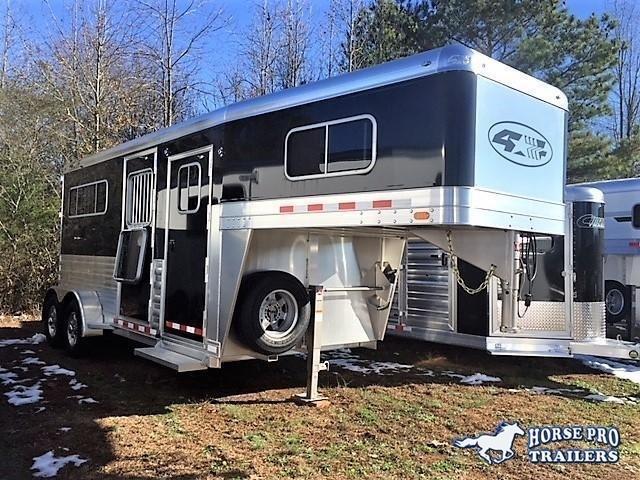 2019 4-Star 2 Horse Straight Load Gooseneck-XL Stalls & WERM FLOORING!